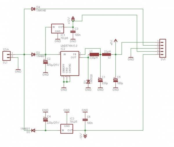 Schaltplan der Stromversorung